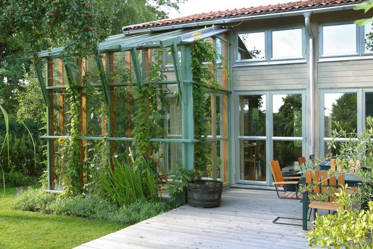Ateljé med växthus
