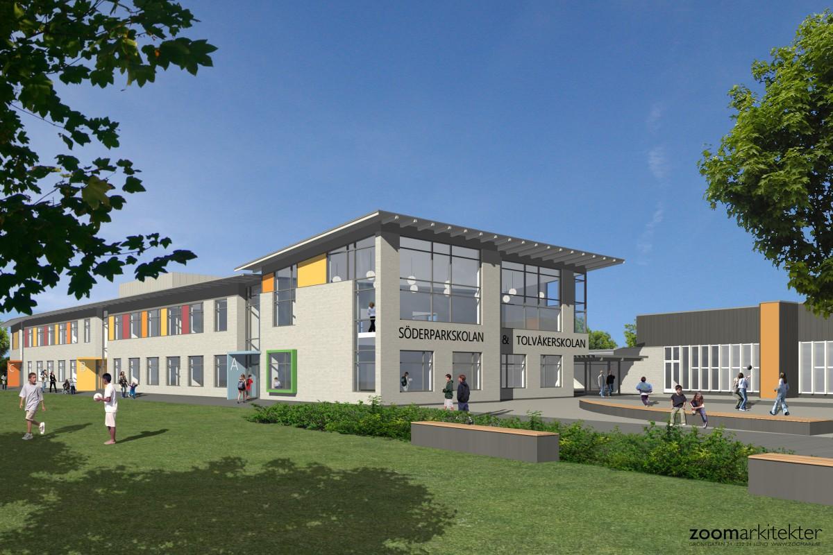 Tolvåker och Söderparkskolan – Nybyggnad
